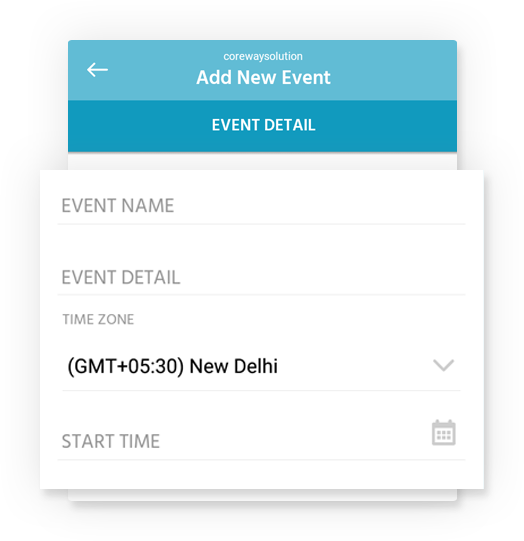 Easy Event creation in few clicks
