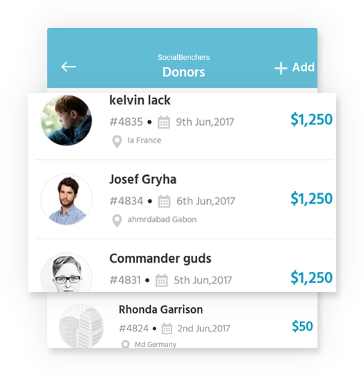 Easy management of donation log