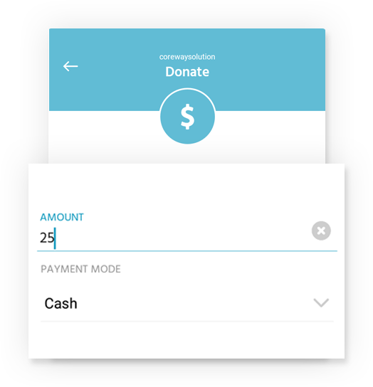 Donations log with different payment mode