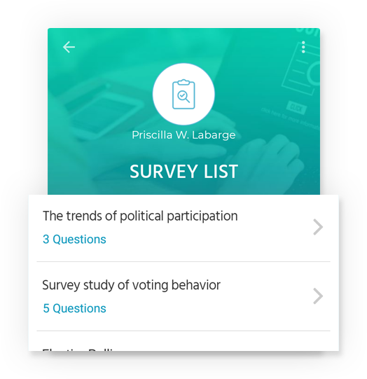 Easy creation of survey list by HandyNation Mobile app